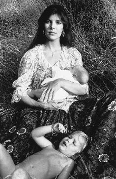 Caroline and Andrea with baby Charlotte photographed by June Newton a.k.a. Alice Springs.