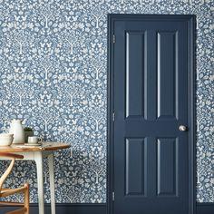 Woodland Blue Wallpaper