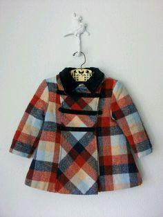 A stunning toddler girls jacket circa the 1960's or early 1970's. via etsy shop
