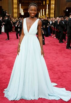 Lupita Nyong'o in Prada at the 2014 Academy Awards |  Getty Images | blog.theknot.com