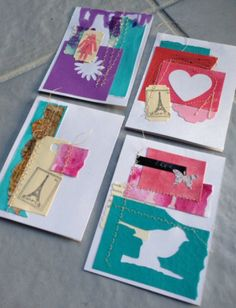 cards made from scraps    #cards #recycle