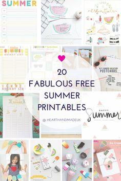 20 Fabulous Free Summer Printables