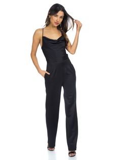 NBD - Business in the front, party in the back! The Diem jumpsuit by NBD is the perfect sultry addition to your closet. We love how flattering and chic the tailored pant and adjustable tie back are. Wear to work with a jacket and transition to date night in an instant!