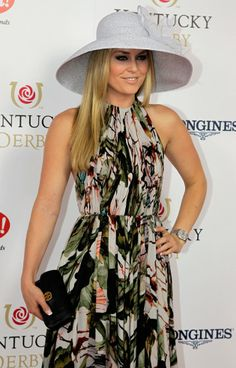 Olympic gold medal skier Lindsey Vonn - looking good at the Derby!