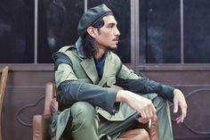 Mannequin homme, kaki, militaire, beret
