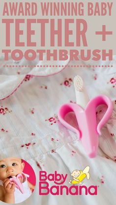 Banana Baby Toothbrush and Teething Ring in One Teeth Aid Training Brush