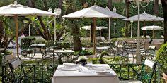 Dinner alfresco at Oliver Glowig's two Michelin-starred restaurant. #JetsetterCurator