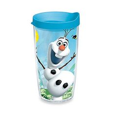 Have a blast with the hysterical, wacky Olaf from Disney's hit movie Frozen and the Tervis Olaf Summer Wrap 16 oz. Tumbler. This colorful, fun tumbler is suitable for hot or cold drinks and comes with a lid.