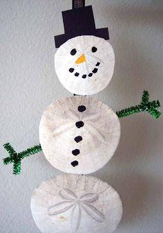 Sand Dollar Snowman