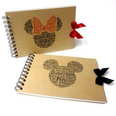 Disney Autograph Book, Mickey or Minnie Mouse, Disney Land or Disneyworld, Word Art, A5 by doodledah on Etsy https://www.etsy.com/uk/listing/291743029/disney-autograph-book-mickey-or-minnie
