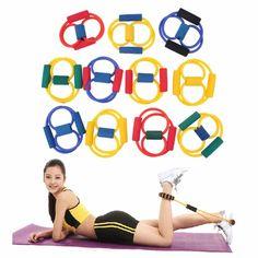 1ピース抵抗8タイプ筋肉チェストエキスパンダーロープワークヨガチューブスポーツ引っ張るエクサ送料無料