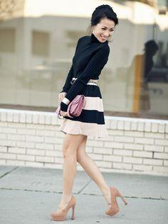 love a striped skirt