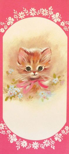 https://flic.kr/p/dPdAKf | Vintage Kitten Get Well Greeting Card 1960s |  Interior of card reads:  BEST WISHES FOR YOUR SPEEDY RECOVERY  Hope you feel a lot better Because when you do - I'm gonna be feelin' A lot better, too!  Made in U.S.A.  Manufacturer unknown