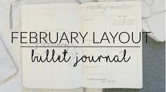 Cleaning Schedule Bullet Journal Layout for February