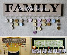Family Birthdays Calendar