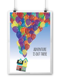 UP Adventure is Out There Balloon Poster by NightBirdsDesign on Etsy