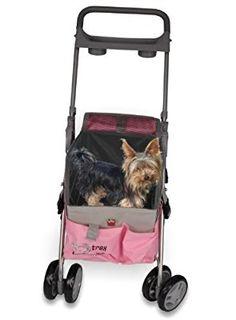 PINK PET DOG CAT 3 IN 1 DELUXE PET STROLLER
