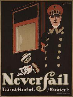 By Hans Rudi Erdt,  1 9 11, Never fail.  (German)