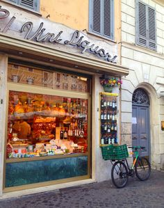 Rome, Italy a quaint bakery in a side street embracing cobbled stoned streets