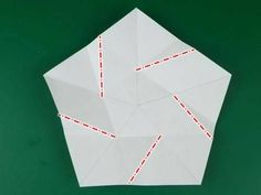 5 pointed origami star step 2b