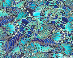 """Loving this butterfly wing/peacock blue fabric"" .and this was pinned by a quilter. Peacock Fabric, Peacock Blue, Blue Fabric, Royal Blue And Gold, Blue Gold, Blue Butterfly, Butterfly Wings, Timeless Treasures Fabric, Color Of Life"