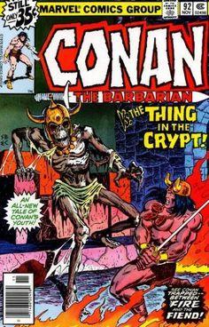 Conan The Barbarian 92 Marvel 1978 NM- Roy Thomas Skeleton Crypt Marvel Comic Books, Comic Book Characters, Comic Character, Comic Books Art, Literary Characters, Conan The Barbarian Comic, Conan The Destroyer, Fantasy Comics, Fantasy Art