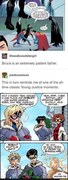 Memes Humor, Dc Memes, Meme Comics, Dc Comics Funny, Marvel Dc Comics, Super Sons, Nananana Batman, The Maxx, Tim Drake