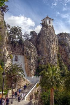 Guadalest,  Spain....beautiful place, but hair-raising drive up narrow winding road if you don't like heights!