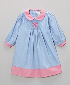 Take a look at this Blue Gingham Snowflake Smocked Dress - Infant & Toddler by Petit Pomme on #zulily today!