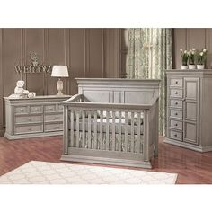"Baby Cache Vienna Lifetime Crib - Ash Gray - Baby Cache - Babies ""R"" Us I WANT THIS CRIB SET FOR PAYTON!!!"