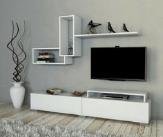 How and where to make a modern TV cabinet design? Tv Unit Decor, Tv Wall Decor, Room Decor, Modern Tv Cabinet, Modern Tv Wall Units, Tv Wall Cabinets, Living Room Cabinets, Tv Wanddekor, Tv Unit Furniture
