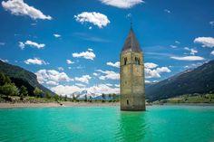 Resia lake. Trentino alto adige Italy