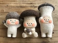 Felt Crafts Diy, Diy Arts And Crafts, Clay Crafts, Creative Crafts, Crafts To Do, Tiny Dolls, Soft Dolls, Cute Dolls, Needle Felted Animals