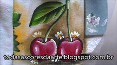 como pintar cereja em tecido
