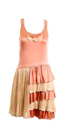 BETSEY JOHNSON PEACHES AND CREAM SLIP DRESS SIZE 8 – London Couture