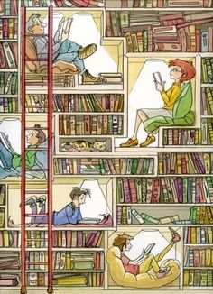 reading in the shelves