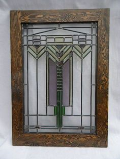 craftsman stained glass windows | Craftsman Stained Glass Window by charlesartglass on Etsy