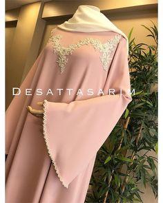 Müşterimiz iyi günlerde kullansın 🌸 Hijab Gown, Hijab Outfit, Arab Fashion, Islamic Fashion, Borka Design, Abaya Pattern, Party Frocks, African Fashion Ankara, Abaya Designs