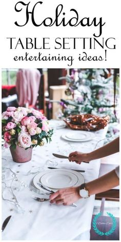 If you're hosting a Thanksgiving, Christmas, or New years dinner,  you want to know how to set a proper holiday table.  Growing up, my Mom was a stickler for a proper table setting.  I show you the proper way, and some cute table setting ideas for your next dinner party! #spon