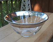 Silver Rimmed Dorothy Thorpe Style Chip and Dip Set. $32.00, via Etsy.