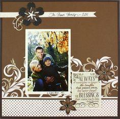 Blessings Divine Scrapbook Layout Project Idea