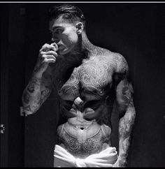 Former Footballer Turned Tattooed Lifestyle Model: Stephen James — PAGE Magazine Tattoo Model Mann, Sexy Tattooed Men, Tattooed Models, Stephen James Model, Hot Guys Tattoos, Inked Men, Hommes Sexy, Male Body, Hot Boys