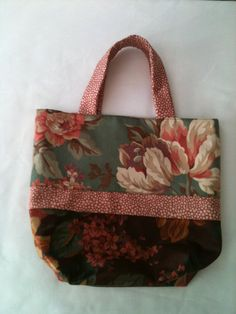 Small Decorator Tote by ScrappyRemnants on Etsy, $12.00