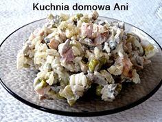 Kuchnia domowa Ani: Sałatka ryżowa z pieczarkami i kurczakiem