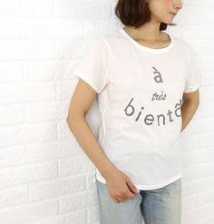 tricot*tricot(トリコトリコ) コットン 半袖 ロゴ Tシャツ・811537  #tricot*tricot