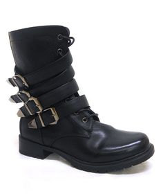 Blue Berry Black Best Triple-Closure Boot by Blue Berry #zulily #zulilyfinds
