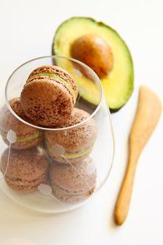 Chocolate & Avocado Macarons by raspberri cupcakes, via Flickr