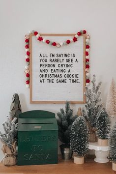All I'm saying is you rarely see a person crying and eating a cookie at the same time. Check out our favorite funny Christmas letter board ideas here. funny The 13 Funny Christmas Letter Board Quotes We Can't Wait to Use Christmas Time Is Here, Little Christmas, Winter Christmas, All Things Christmas, Merry Christmas, Christmas Cookies, Christmas Greeting Cards, Christmas Greetings, Printable Christmas Cards