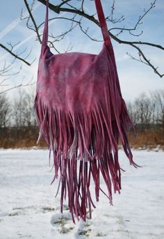 Purple Tie Dye Fringe Bag by confettijulie on Etsy, $159.00