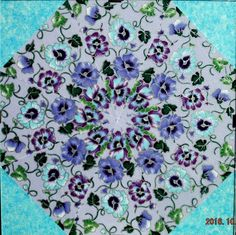 Original Kaleidoscope No Sew Fabric Art By Sara Elizabeth